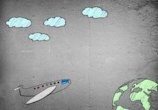 tecknat flygplan arkivfoton