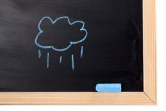 tecknat regn Arkivbilder