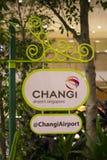Tecknet av den Singapore Changi flygplatsen royaltyfria foton