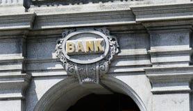 Tecknet av en bank Arkivfoton