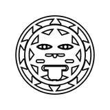 tecknet av solen av den Mexico symbolen Best?ndsdel av Mexico f?r mobilt begrepp och reng?ringsdukappssymbol ?versikt tunn linje  stock illustrationer