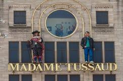 Tecknet av vaxmuseet för madam Tussaud i Amsterdam, Nederländerna Royaltyfri Foto