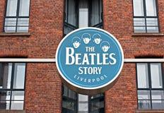 Tecknet för Beatles berättelseutställning Royaltyfri Bild