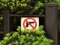 Tecknet 'inget vapen 'i Chicago, IL royaltyfri bild