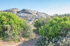 Tecknet som berättar detta, är taket av Namaqualand Arkivfoton
