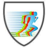 tecknet sprintar Royaltyfri Fotografi