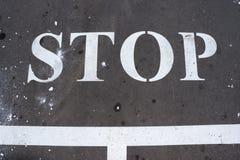 Tecknet 'stopp ', arkivfoton