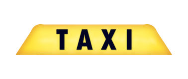 tecknet taxar Arkivfoto