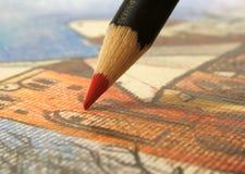 teckning Royaltyfri Foto