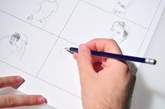 Teckning Arkivbild