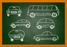 Teckning av bilar royaltyfri illustrationer