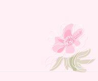 Teckning av den härliga blomman stock illustrationer