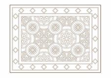 Teckning av en matta med en cylindrisk modell Royaltyfri Fotografi