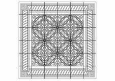 Teckning av en stor matta Arkivbild