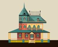 Teckning av ett stort hus Royaltyfria Bilder