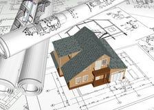 Teckning av hemmet Arkivbild