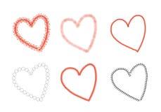 Teckning av hjärta stock illustrationer