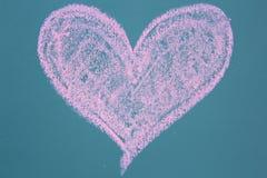 Teckning av hjärtasymbolen Fotografering för Bildbyråer