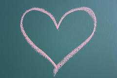 Teckning av hjärtasymbolen Arkivbilder
