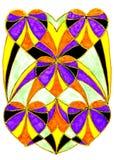Teckning av hjärtor Royaltyfria Bilder