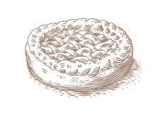 Teckning av jästkakan arkivbilder