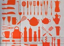 Teckning av kökmaskinvara Arkivfoton