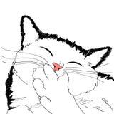 Teckning av katten Arkivfoto