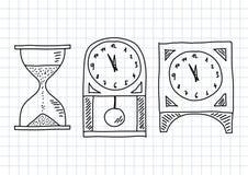 Teckning av klockor Arkivfoto