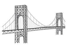 Teckning för George Washington bro stock illustrationer