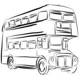 Teckning för London bussvektor stock illustrationer