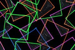 Teckning för markörpenna av fyrkanter vektor illustrationer