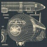 Teckningar för borgerligt flygplan royaltyfri illustrationer