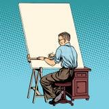 Teckningar för märkes- asiatisk tekniker för forskare funktionsdugliga royaltyfri illustrationer