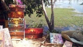 Teckningar från Siem Reap Royaltyfria Foton