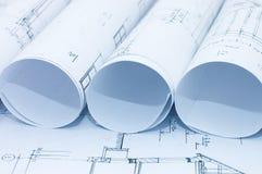 teckningar som engineering rullar Royaltyfri Bild