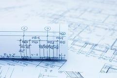 teckningar som engineering rullar Royaltyfri Foto