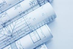 teckningar som engineering rullar Royaltyfria Foton