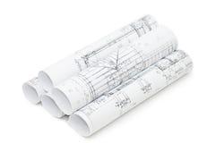 teckningar som engineering rullar Arkivbilder