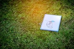 Teckningarna av det lilla barnet arkivfoton