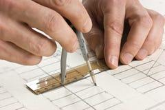 teckningen tecknar handblyertspennan arkivfoton