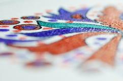 Teckningsbakgrund med färgpennan Royaltyfria Foton