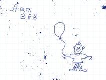 teckningsblockskola Royaltyfria Bilder