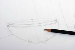 teckningsblyertspenna royaltyfri fotografi