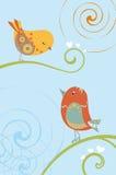 Teckningsfåglar Royaltyfri Fotografi