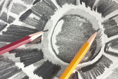 teckningsgrafitblyertspenna Royaltyfria Bilder