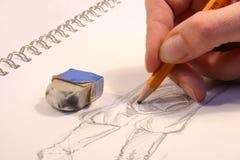 teckningshand vektor illustrationer