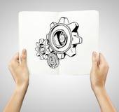 Teckningskugghjul Fotografering för Bildbyråer