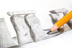 teckningskurs arkivbilder