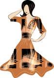 teckningskvinna royaltyfria bilder