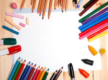 Teckningsmaterial Arkivfoto